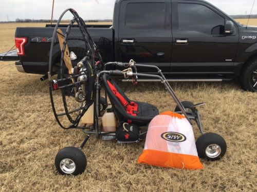 Powered Paraglider Quad With The Paraglider And Extra Safety Stuff