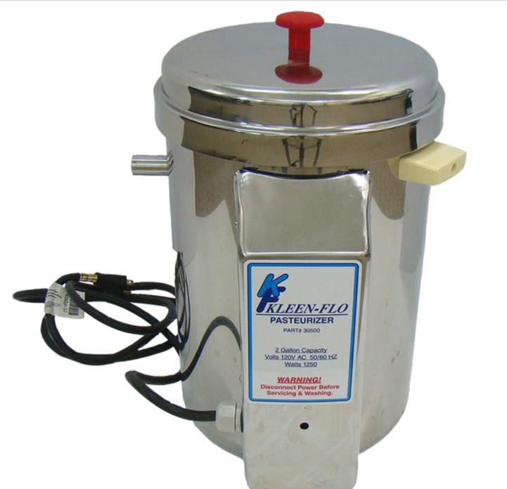 Kleen-Flo, 2 Gal. Milk Pasteurizer. All Stainless Steel.