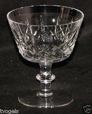 Edinburgh Crystal Olive and Cross Stem Champagne Dessert Dish Goblet Glass