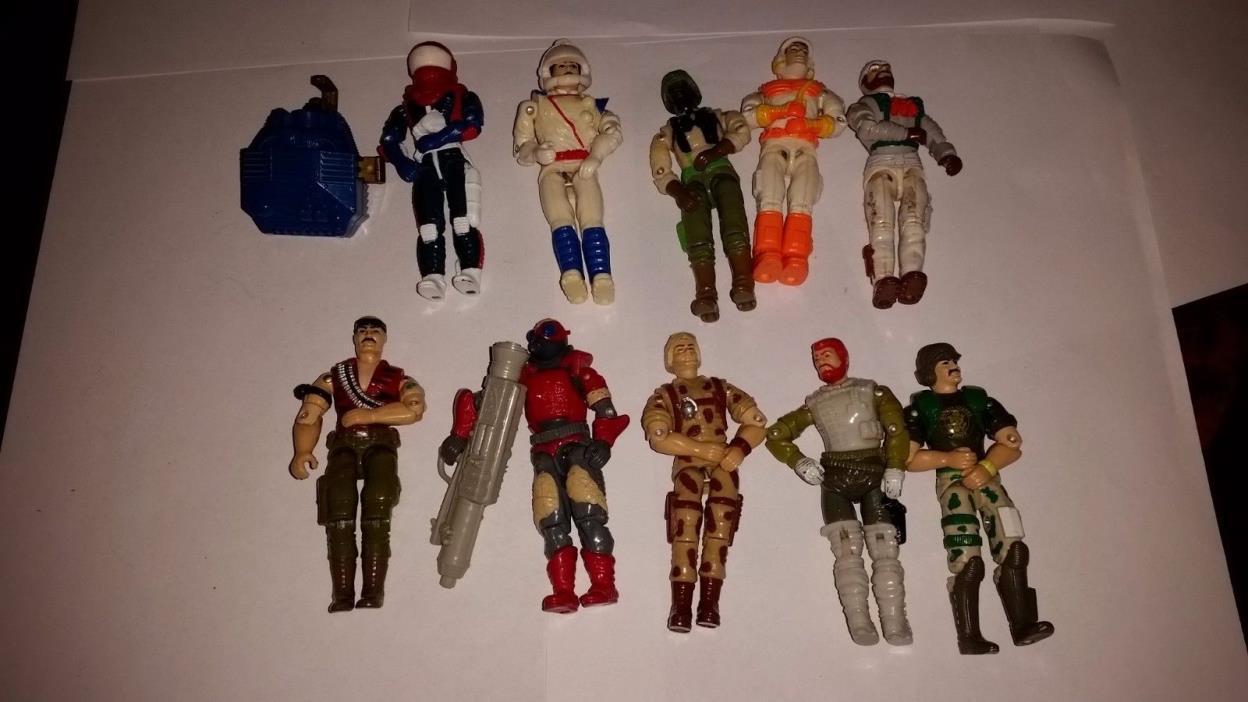 Vintage GI JOE Cobra 1980s 90s mixed Lot of 10 Figures Hasbro Minor Wear! 3 3/4