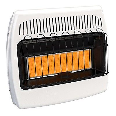 Natural Gas Heater Infrared Vent Free Wall Mounted Indoor Space 30000 BTU
