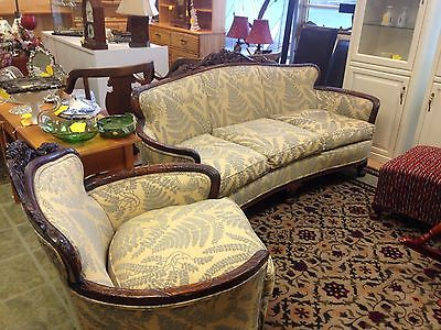 Antique Victorian Sofa and Chair, Clean, Super Comfy @ Raleigh Furniture Gallery