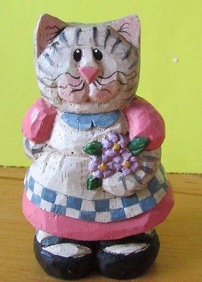 Eddie Walker Easter Cat & pink dress & apron
