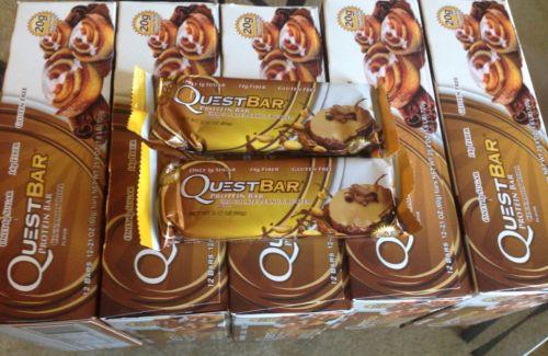 quest bars Cinnnamon Roll  5 Boxes  9/17 12 Bars  Each Box + 2 Bar Free