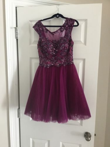 Sherri Hill Dress Plum color size 0
