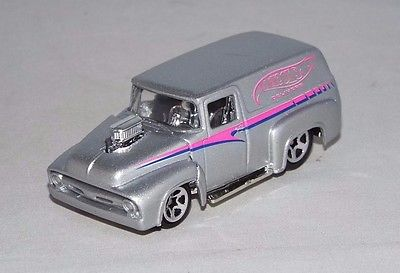 Hot Wheels 1 Loose Hall Of Fame Set Vehicle '56 Ford Panel Delivery Silver