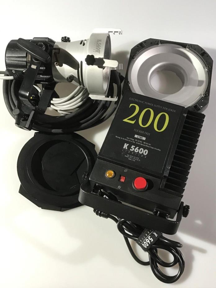 5600k Joker 200 HMI with Ballast, Barn Doors, Chimera Speed Ring