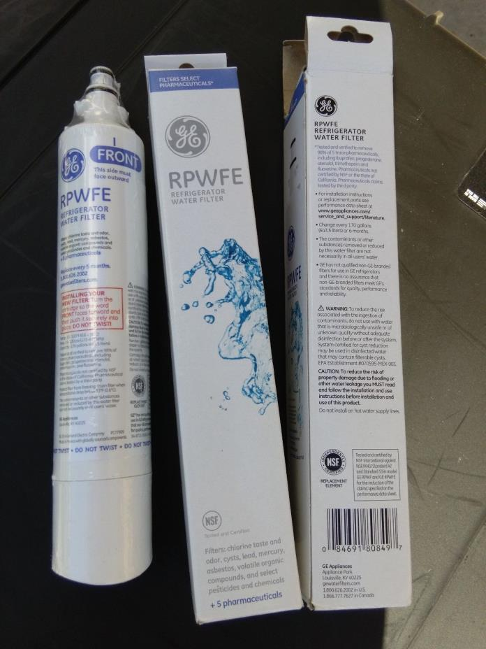 GE RPWFE Genuine OEM Replacement Refrigerator Water Filter Factory Sealed NEW