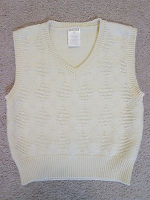 George Boys 3T V-Neck Light Yellow Argyle Knit Sweater Vest Spring Easter