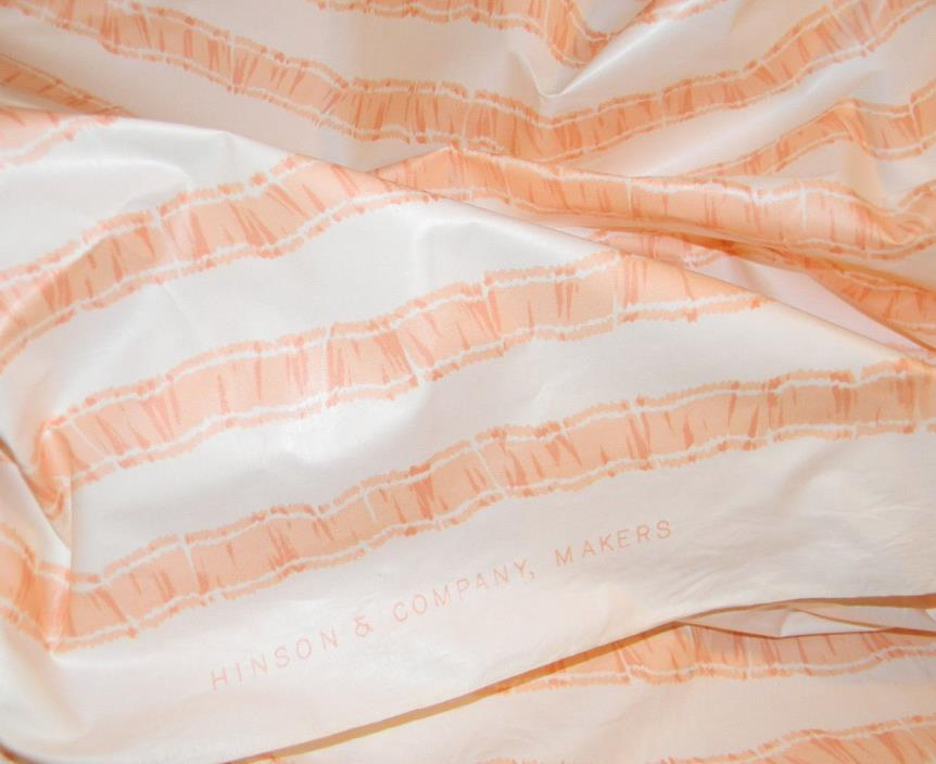 2 Yards HINSON & CO. Cotton Chintz Sweet PEACH Ribbon Motif
