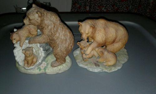 2 bear home interior figurines