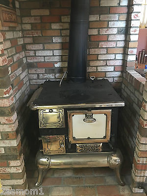 Professionally Restored Antique Wood/Coal Cook Stove Low Reserve