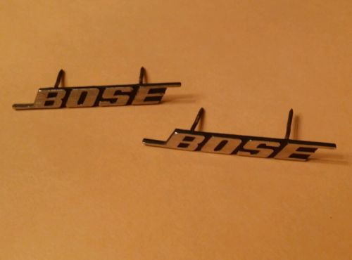 BOSE Vintage Pair Metal Speaker LOGO BADGE EMBLEM Silver OEM 501 901 601 301