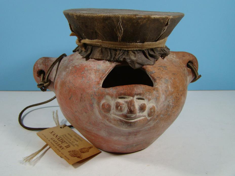 Pre-Columbian Aztec Drum Reproduction