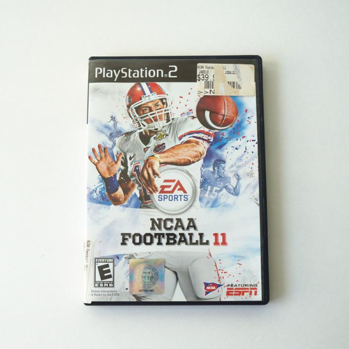 NCAA Football 11 for the PS2 Disc and Case Tested