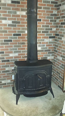 Olympic Crest Cast Iron Wood Burning Stove