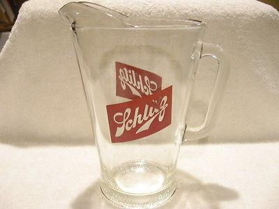 Vintage Schlitz Beer Glass Pitcher