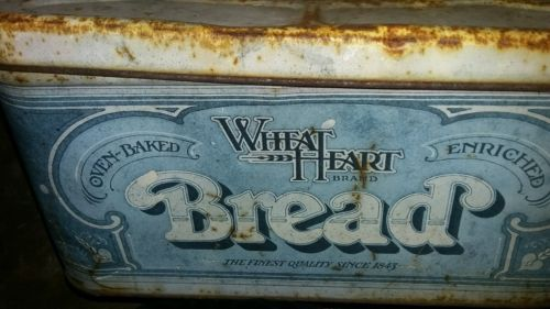 White Heart Brand Bread Metal box
