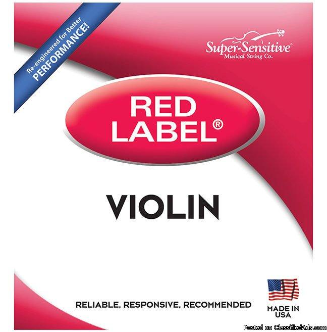 Red Label Violin Strings Cheap Low Low Prices Save Money