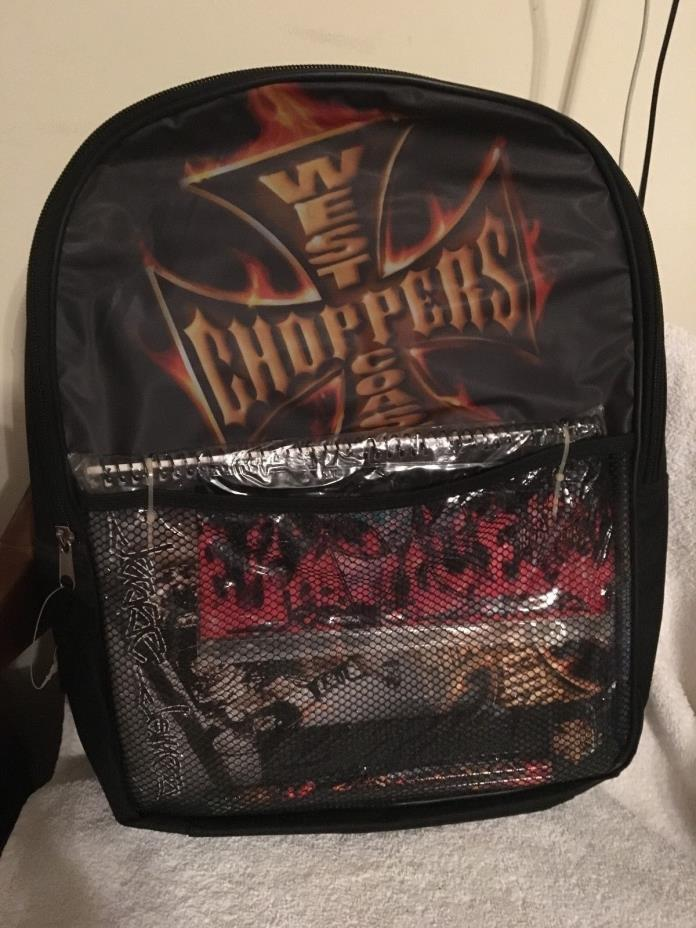 NEW Jesse James West Coast Choppers School Back Pack-Stationery and More