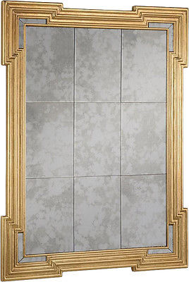 Elegant Lighting Antique Gold Rectangle Wall Mirror