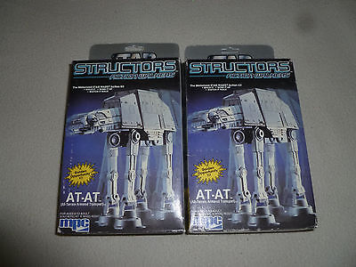 NEW IN BOX STAR WARS STRUCTORS ACTION WALKERS AT-AT KIT LOT SET MPC VINTAGE 1984
