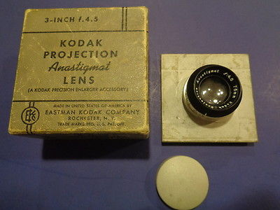 Vintage Kodak Projection Anastigmat f4.5 75mm Enlarging Lens