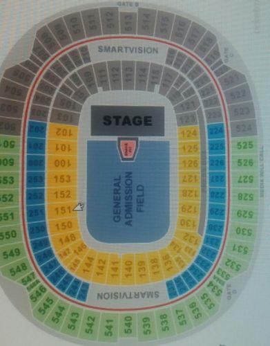 2 Tickets Metallica Avenged Sevenfold & Volbeat 5/10 M&T Bank Stadium GA FLOOR!!