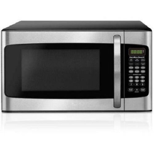 Stainless Microwave Oven 1.1 Cu Ft 1000W Defrost Digital LED Display Touch Pad