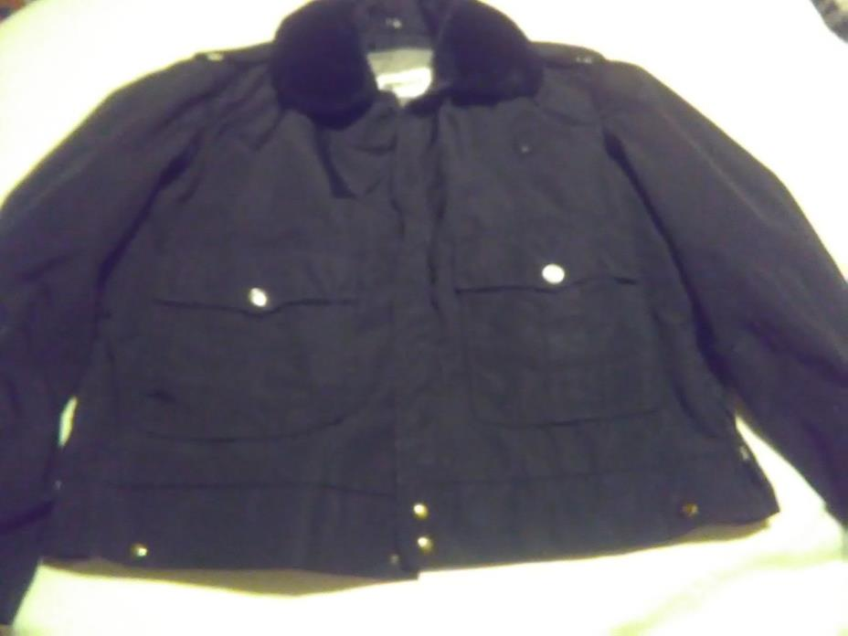 Vintage Blauer Uniform Police Jacket Black Size L Coat 46R
