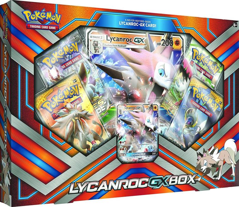 Pokemon Lycanroc GX Box Collection Trading Card Game