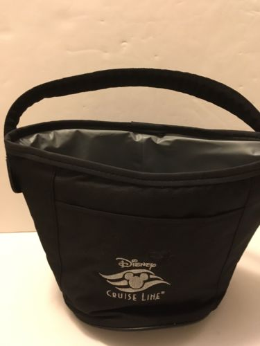 Disney Cruise Line Embroidered Cooler Ice Drink Carrying Bag Insulated