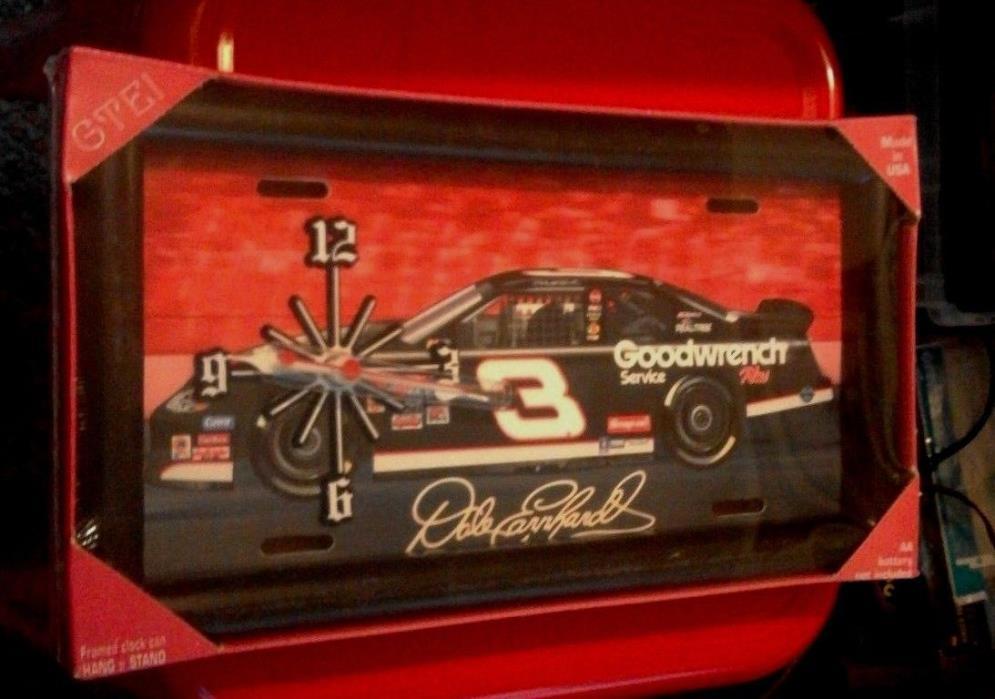 NASCAR- DALE EARNHARDT LICENCE PLATE CLOCK
