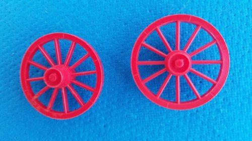 MARX PLAYSET- BUCKBOARD  RED WAGON WHEELS