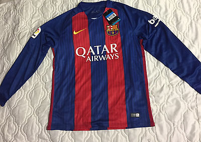Lionel Messi Barcelona Long Sleeve Men Jersey