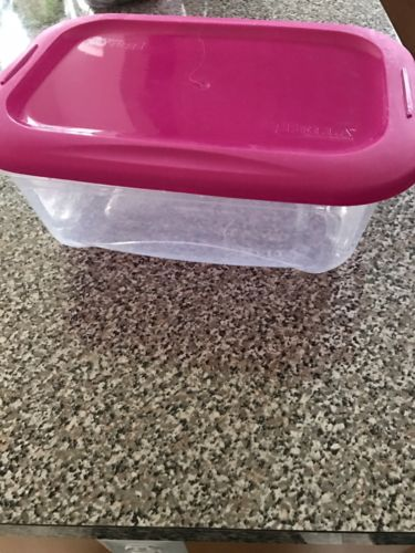 Bella Plastic Storage Basket And Lid 6.25 QT