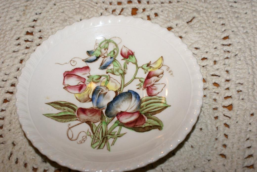 JOHNSON BROS OLD FLOWER PRINTS SWEET PEA SAUCER ONLY