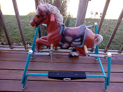 Vintage Flexible Flyer bouncing Spring riding Horse Cowboy Western Toy
