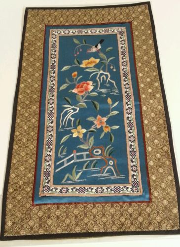 silk chinese embroidery panels