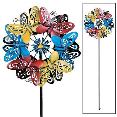 Colorful Butterfly Double Wind Spinner