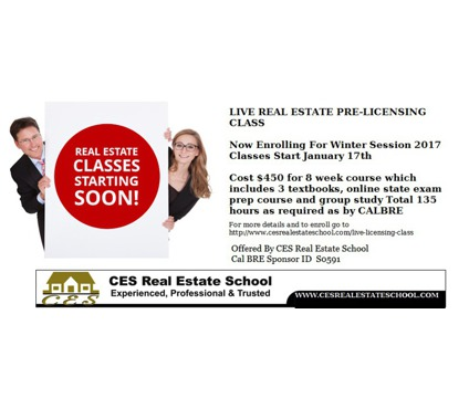 Get Your Real Estate License-Live Real Esate Class