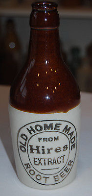 ANTIQUE HIRES ROOT BEER STONEWARE BOTTLE  'OLD HOME MADE'