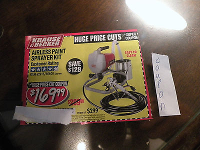 HARBOR FREIGHT SAVE $129***COUPON*** FOR airless paint sprayer kit T27