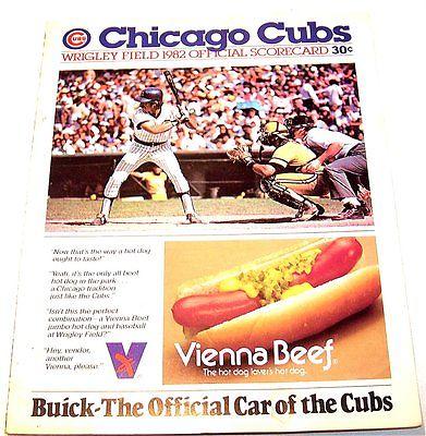 1982 Chicago Cubs Pittsburgh Pirates Baseball Scorecard Tickets Penguins NoRskOf
