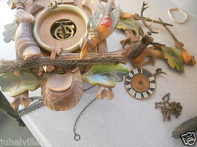 VINTAGE HUNTER CUCKOO CLOCK - FOR PARTS OR REPAIR