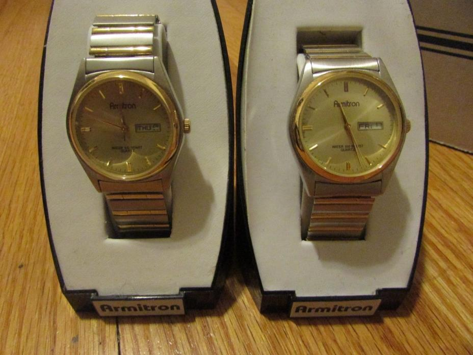 Lot of 2 Armitron mens watches Stretch Band New