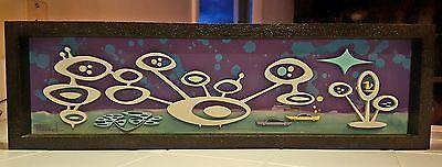 Mid Century Modern Retro 3D Art Michelle Bickford Painting Googie Jetson Space