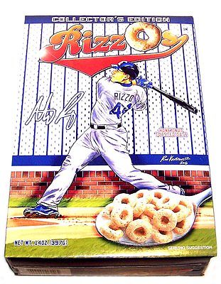 Chicago Cubs 2017 Baseball Rizzo's Cereal Ticket Anthony 2016 Spring Traning NIB