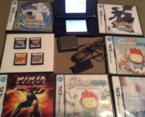 Nintendo DS System & Games Pokemon SoulSilver,Diamond,Pearl,White,Crash,Lego,