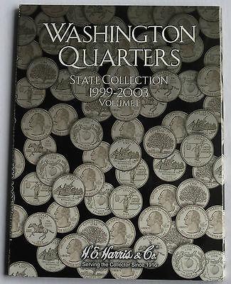USA - H.E. HARRIS COINS FOLDER WASHINGTON QUARTERS STATE 1999-2003 VOL 1  #2580